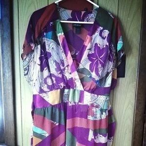 Lane Bryant 18/20 faux wrap sheer top with ties